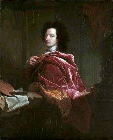 1692 - autoportrait au manteau rouge  (Karlsruhe)